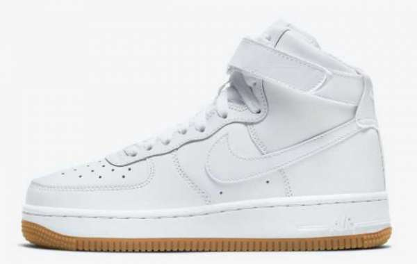 Best Selling Nike Air Force 1 High White Gum Sale Online DH1058-100